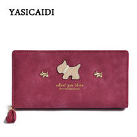 Women Wallets Leather Scrub Long Wristlet Phone Card Holder Coin Dollar Price Female High Quality Clutch