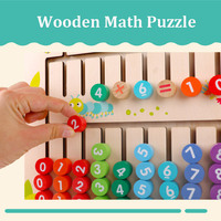 Wooden math toys baby learn educational montessori nombre comptage math matiques jouets Addition subtraction multiplication toy
