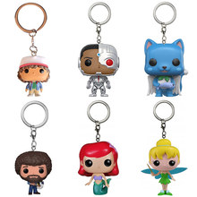 Lensple The Movie Tinker Bell Ariel Happy Bob ross Cyborg Dustin Keychain Action Figure Toys