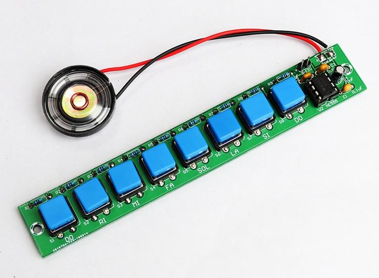 diy electronic kit set NE555 keyboard kit Eight notes DIY electronic production parts Welding practice Fun teaching training