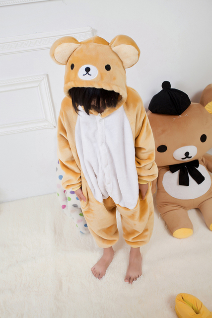Kids Bear Onesie Children s Cosplay Costume Unisex Cartoon Pajamas for  Helloween Christmas Party Hoodies Pajama Infantil Menino 407096611413