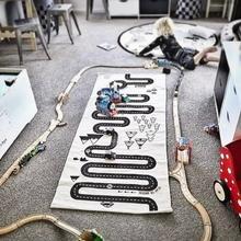 Детский игровой коврик, детский автомобильный коврик с рисунком леса, коврики для ползания, обучение по головоломкам, игрушки 70*170 см, ковер для пола в скандинавском стиле