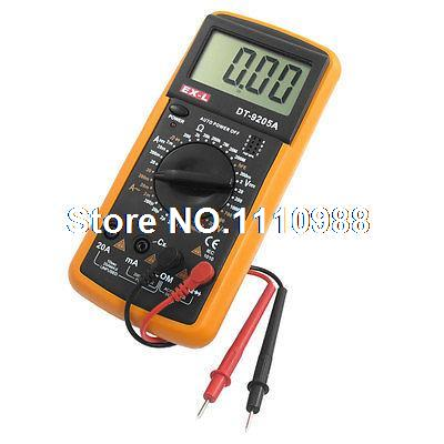 Mechanic Yellow Black LCD Display Multi Fuction Digital Multimeter Tester AC/DC dt9205a lcd display multi fuction digital multimeter tester ac dc black