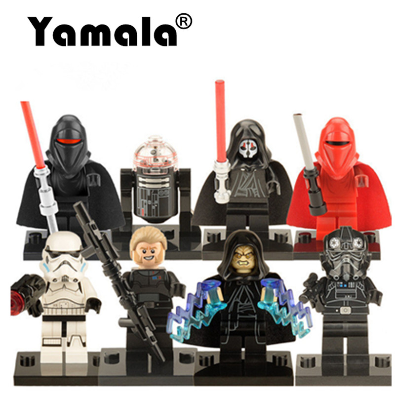 [Yamala] Star Wars Building Blocks Kids Toys Kallus Robot Count Dooku Darth Vader Darth Maul Compatible Legoingly Toys Starwars ksz star wars minifig darth vader white storm trooper general grievous figure toys building blocks