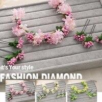 Hot New Flower Fairy Headband Tiara Pink Purple White Color Wedding Dress Accessories Hair Sticks Manufacturers