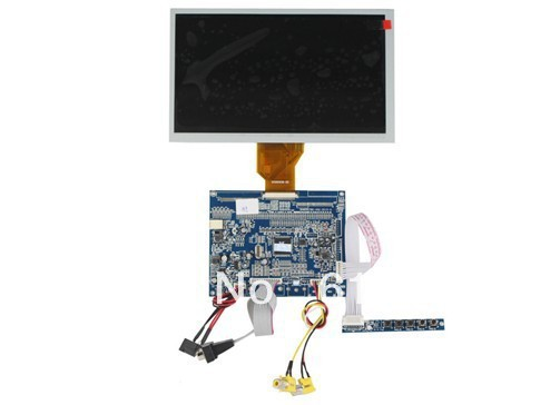 VGA +AV TFT LCD driver board +  AT080TN64 with 800*480 видеорегистратор artway av 711 av 711