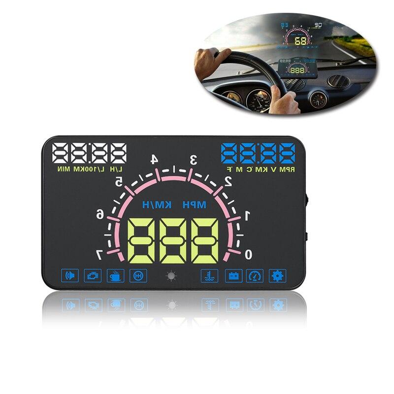auto obdii obd2 interface hud display car 5 8 head up. Black Bedroom Furniture Sets. Home Design Ideas