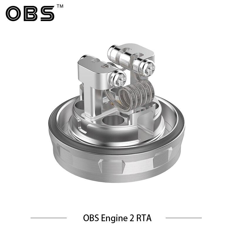 Original Electronic Cigarette Vape Tank OBS Engine 2 RTA Tank 5ml Capacity Top Airflow Design Easy Dual Coil RTA 26mm Diameter