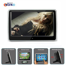 Online / 10.1 inches 1024*600 Car Headrest Monitor DVD Player Built-in Hitachi Lens USB SD  Port FM TFT LCD HD Touch Screen