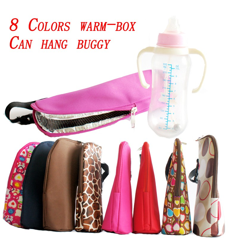 8 Color Bottle Bottle Insulation Portable Bag Feeding Travel Mom Baby Storage 350ML Trolley Warm