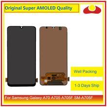 10 unids/lote Original para Samsung Galaxy A70 A705 A705F SM A705F Pantalla LCD con digitalizador de Pantalla táctil Panel Pantalla Completa
