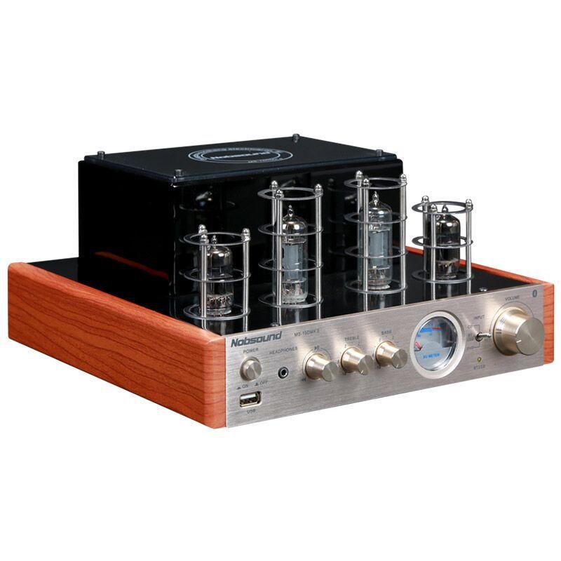 Nouveau noir/argent Nobsound MS-10D MKII Hifi 2.0 amplificateur de tube avec entrée USB/Bluetooth/amplificateur Audio haut de gamme amplificateur 25 W * 2