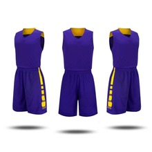 17/18 College basketball jersey & basketball shorts summer sleeveless Breathable sportswear Blank style basketball training suit