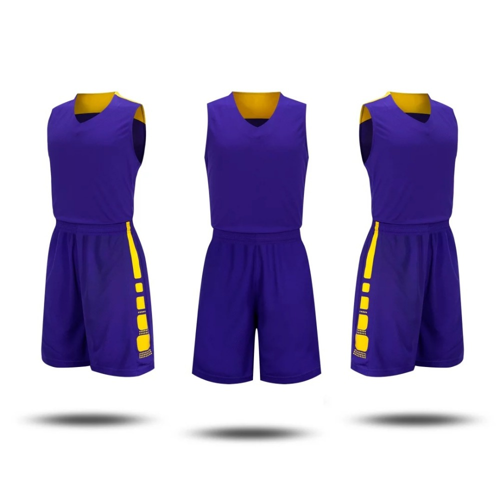 13262ec0d38 College basketball jersey   shorts Blank style basketball training suit  sleeveless Breathable sportswear cheap jersey Customized