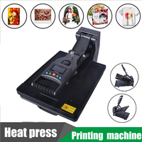 1PC Digital LCD T Shirt Printing Machine with Data storage, Adjustable machining Number/Time Sublimation Printers 2MM/S A3 Print