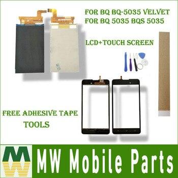 Для BQ BQ-5035 бархат BQ 5035 BQS 5035 Seperate сенсорный экран и ЖК-дисплей черный цвет с лентой с инструментами >> MW MobileParts Co., Ltd