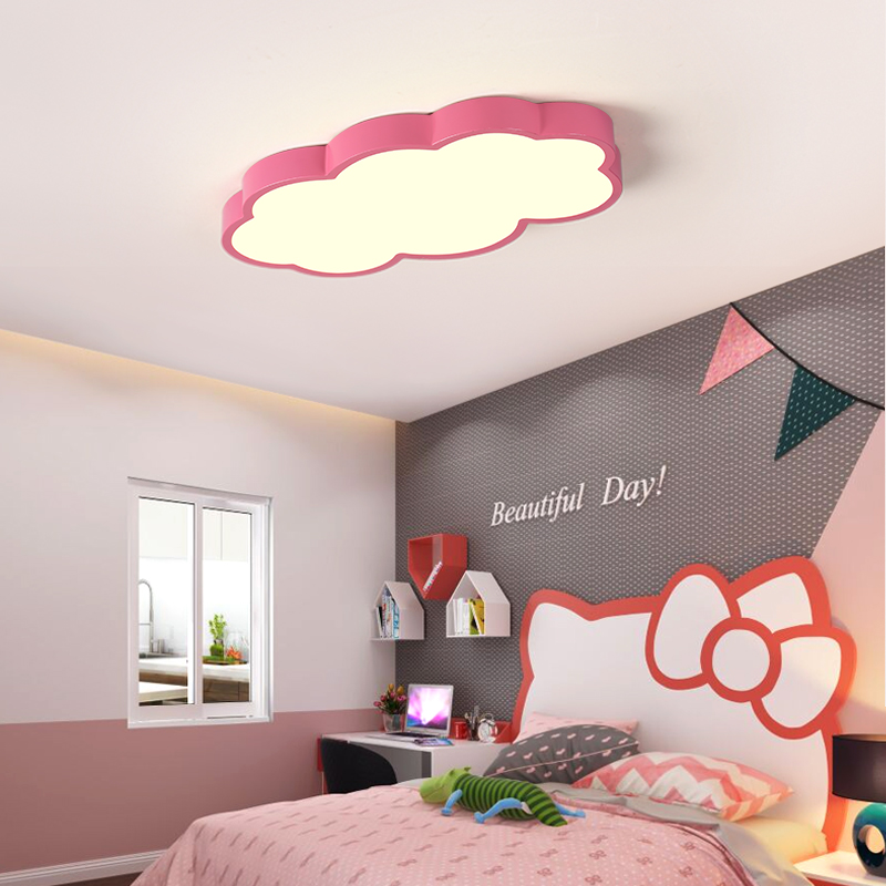 Image 3 - White/Pink/Blue Cloud LED Ceiling Lights For Childrens Room Kids Room Home Deco Ceiling Lamp Boy Girl Room Lighting Fixtures-in Ceiling Lights from Lights & Lighting
