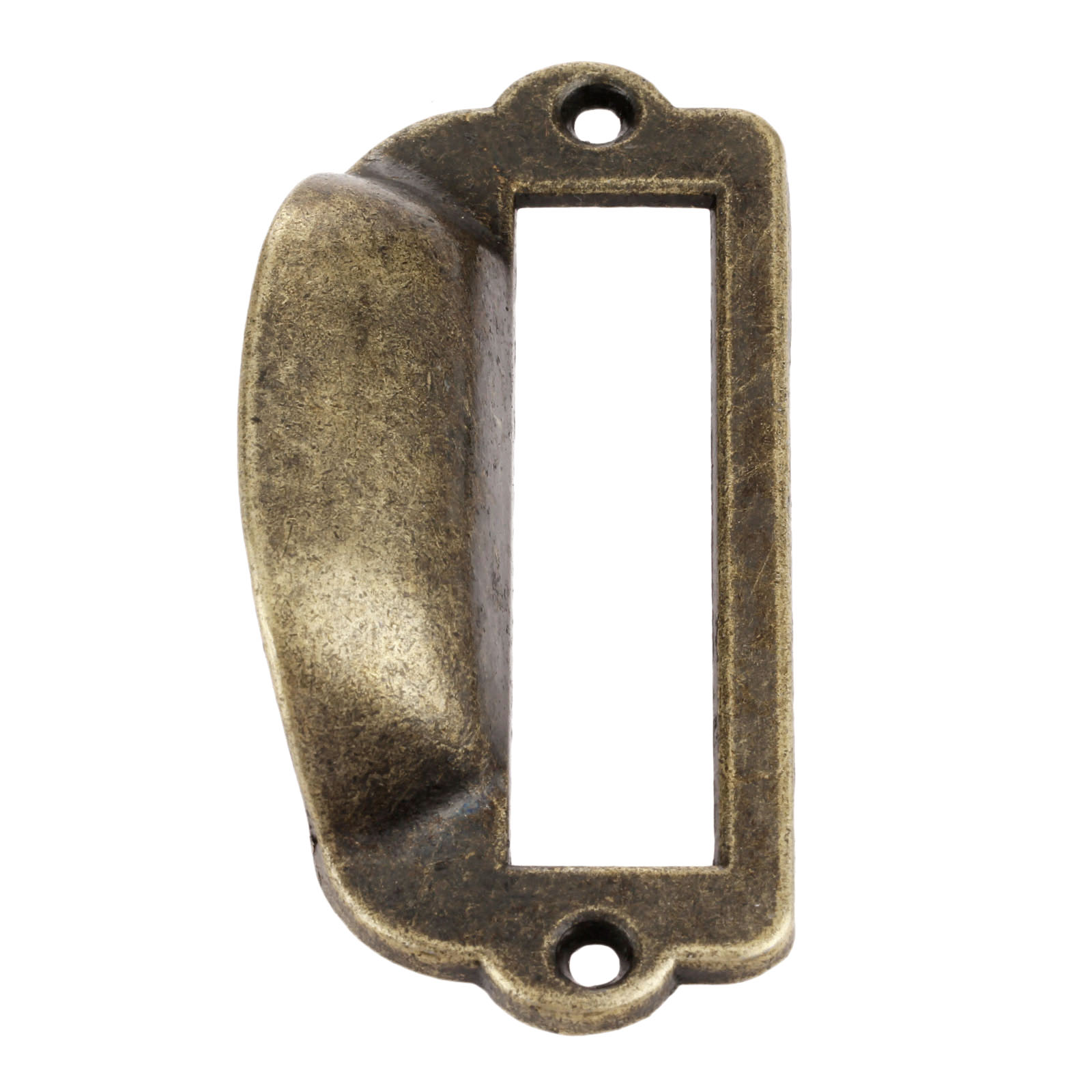 82x40mm Zinc Alloy Antique Brass Label Pull Frame Handle File Name Card Holder For Cabinet Drawer Box Case Furniture Hardware in Cabinet Pulls from Home Improvement