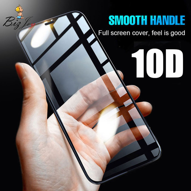 new concept 1cac0 f5720 US $1.27 |10D Curved Edge Full cover 9H tempered glass screen protector For  iphone X 8 10 7 5 5s 5c SE 6 6s 10 plus film case Polo Shirts on ...