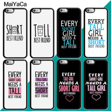 MaiYaCa Every Tall Girl Need A Short Best Friend BFF Case For iphone XR XS MAX 11 Pro MAX X 6 6S 7 8 Plus 5 5S Back Cover Shell