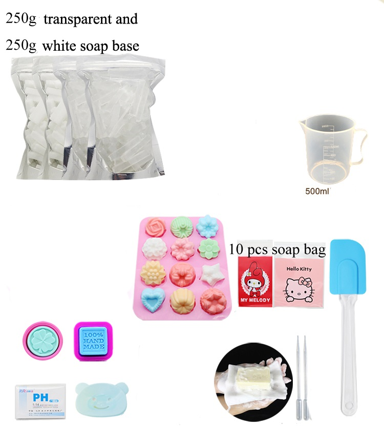 DIY Handmade Soap Set DIY Soap Making Material Soap Base Flavor Pigment Mold Tools
