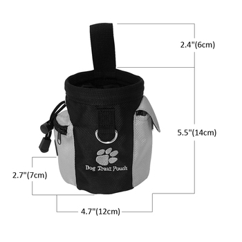 Pet Dog Training Clicker + Treat Pouch Bag and Bell Toy Set Puppy Snack Reward Waist Bag Pet Dog Training Supplies Equipment 5
