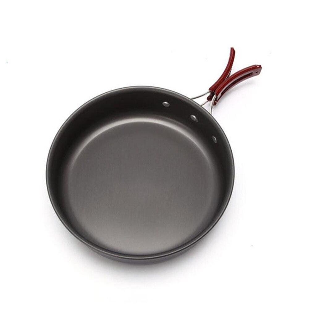 Haute qualité ultra-léger Camping ustensiles de cuisine poêle en plein air vaisselle pique-nique 2-3 personne poêle à frire poêle Portable unique Pot