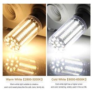 Image 5 - Goodland E27 LED Lamp E14 LED Bulb 220V 110V LED Light 3.5W 5W 7W 9W 12W 15W 20W LEDs Corn Light SMD 5736 No Flicker Lights