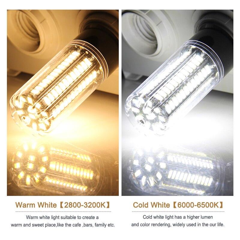 Image 5 - Goodland E27 LED Lamp E14 LED Light 220V 110V LED Bulb 3.5W 5W 7W 9W 12W 15W 20W LEDs Corn Light SMD 5736 No Flicker Lights-in LED Bulbs & Tubes from Lights & Lighting