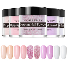 NICOLE DIARY 5 Boxes Nail Powder Set Dipping French Powder Chrome Shinning