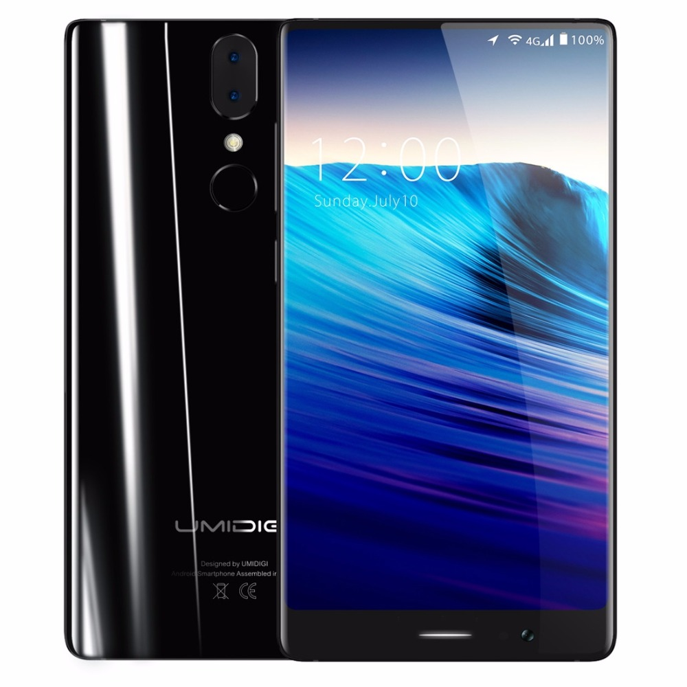 UMIDIGI Crystal MTK6750T Octa Core Cell Phone Android 7.0 Smartphone 4GB RAM 64GB ROM 13MP+5MP Dual Back Camera 4G Mobile Phone