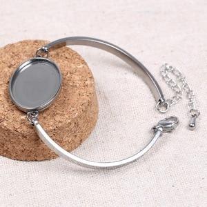Пустые браслеты из нержавеющей стали reidgaller, 5 шт., диаметр 18x25 мм, овальные браслеты, ободок, лоток для ювелирных изделий своими руками