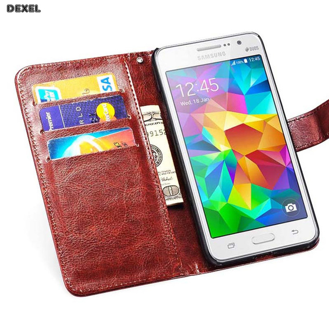 wallet cover For Samsung Galaxy Core 2 Case for samsung G355H SM-G355H G355 G3559 Dual sim Case Cover Luxury flip leather capa