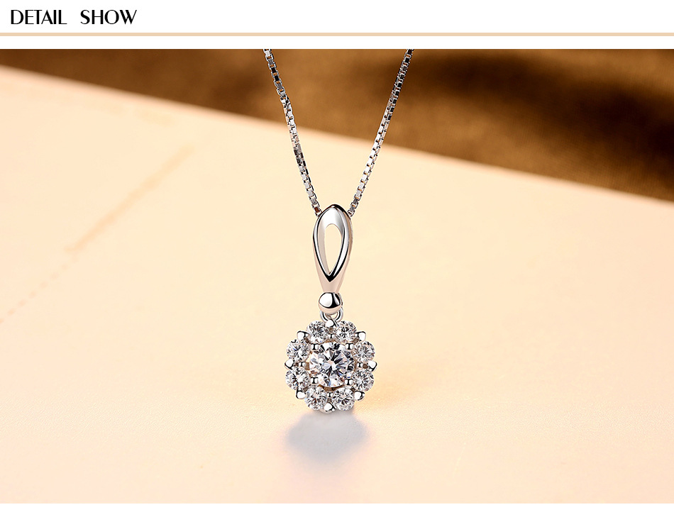 S925 sterling silver necklace micro-set 3A zircon simple jewellery ladies silver jewelry CG10S925 sterling silver necklace micro-set 3A zircon simple jewellery ladies silver jewelry CG10