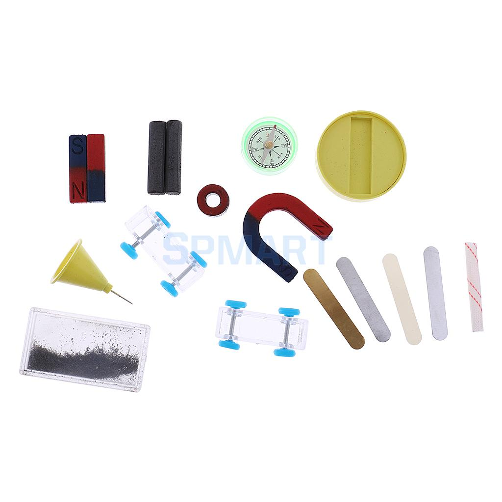 Portable Science Experiment Magnet Kit for Kids Home School Teaching Material Science Learning Props
