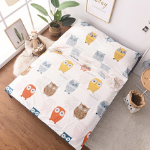 Nordic One-piece Sheets Quilt Cover 100%Cotton Healthy Travel Portable Sleeping Bag Cleanlily Cartoon Hotel Septum