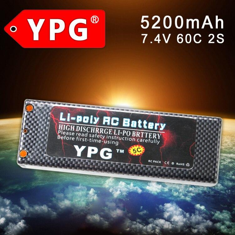 YPG 7.4V 5200mAH 60C 2S Lipo Li-poly Battery For RC Model Car Boat Truck Buggy