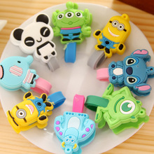 50PCS Cute Animals Earphone Heaphone Winder Cable Cord Organizer Holder For Iphone Ipad Mp5 Multi-styles