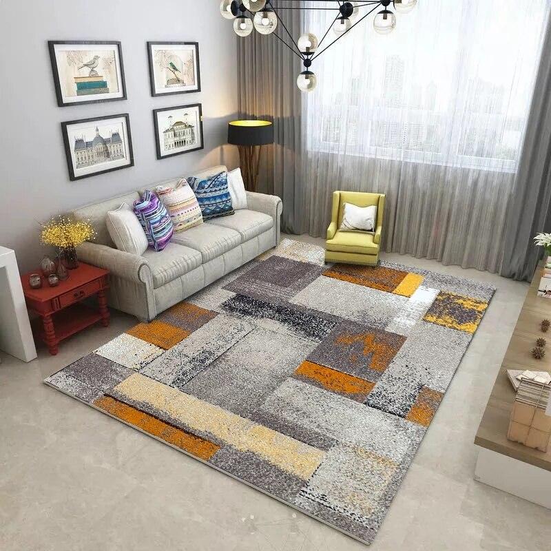 Moderne minimaliste art abstrait salon tapis table basse chambre pleine personnalisée rectangulaire grand tapis