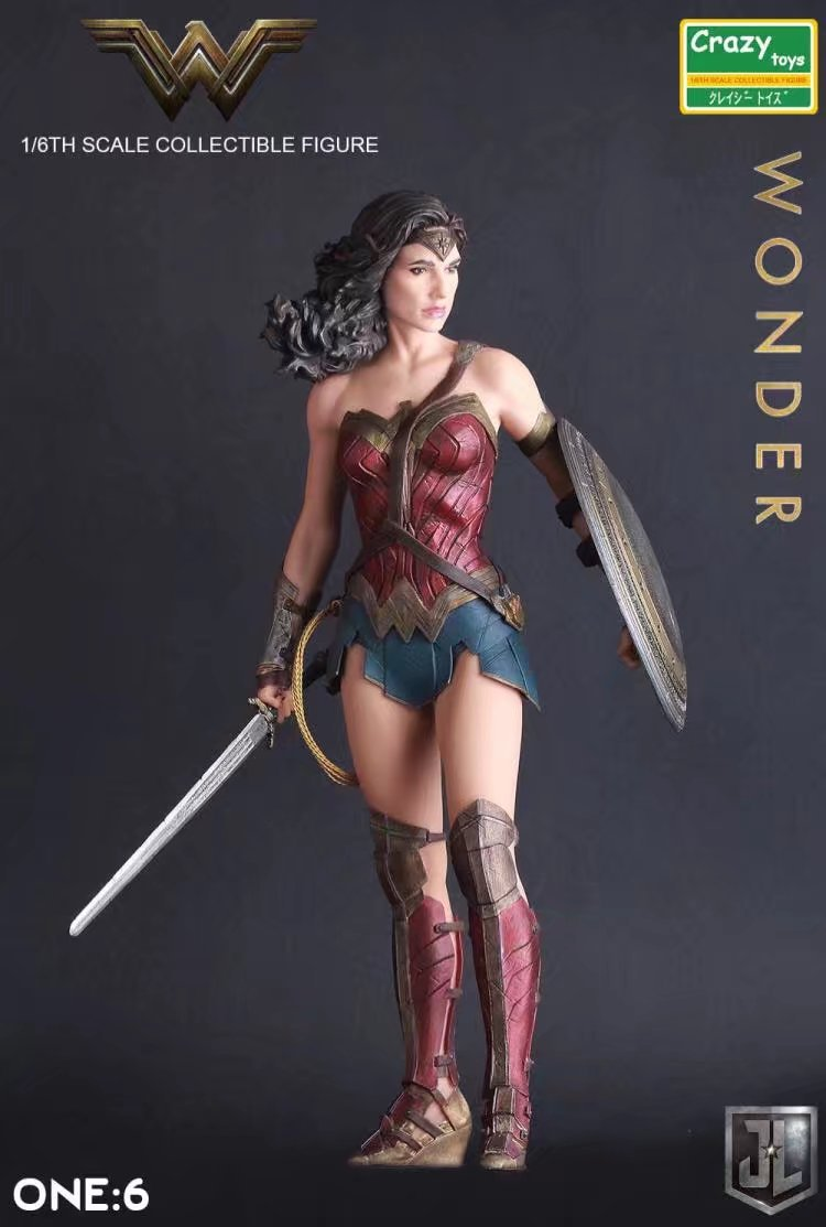 1:6 DC Justice League Super Hero Wonder Woman Crazy Toys Action Figure Model Toy 12inch 30cm
