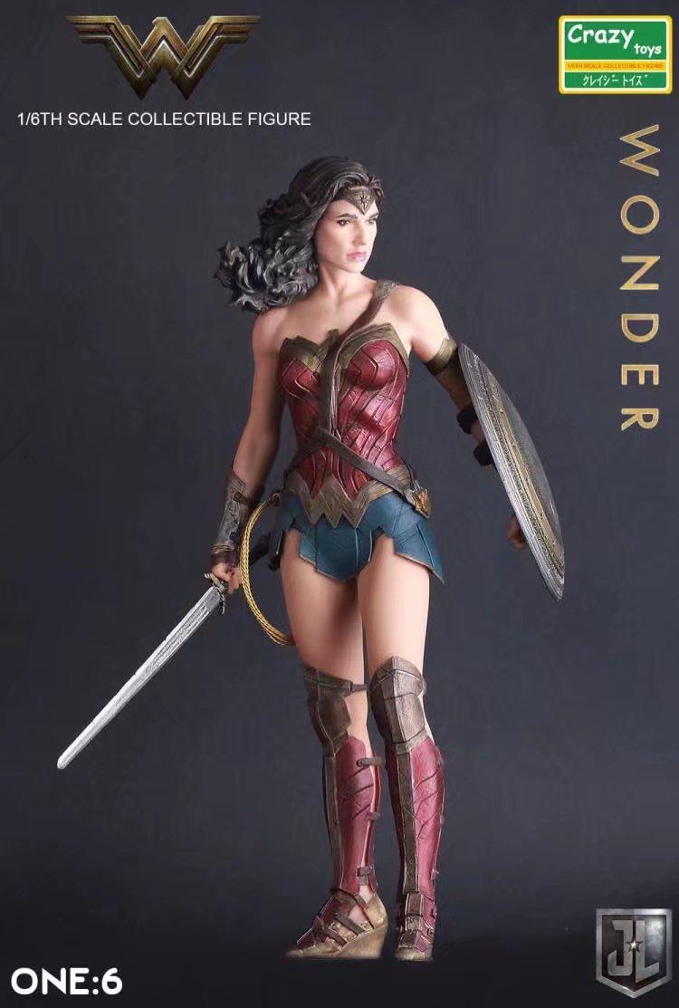 1:6 DC Justice League Super Hero Wonder Woman Crazy Toys Action Figure Model Toy 12inch 30cm