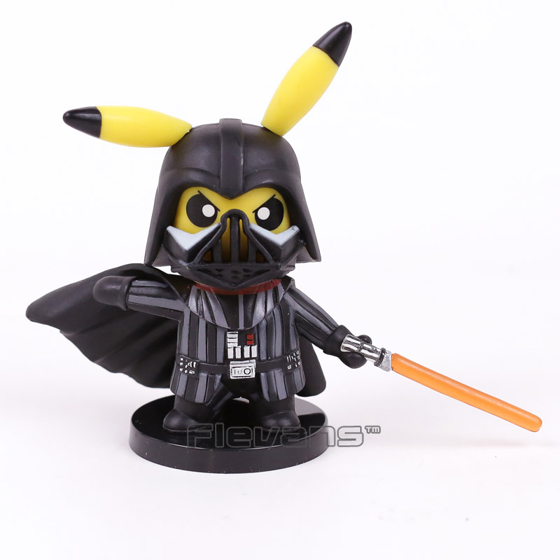 Pikachu Cosplay Darth Vader PVC Figure Collectible Model Toy 10cm аксессуары для косплея cosplay