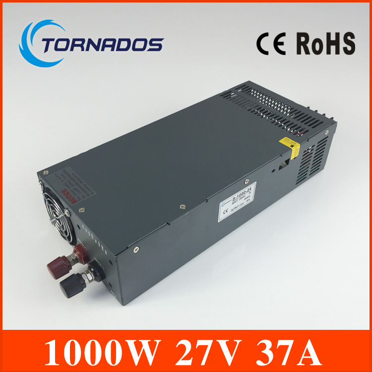 цена на high power manufacturer direct sale high power S-1000-27 high watts single output type 1000w 27v switching model power supply