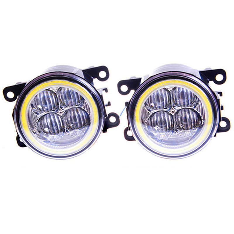 For FORD Renault Mitsubishi Suzuki FORD DACIA NISSAN  Peugeot Citroen Car styling LED Fog lights Angel eyes DRL lamps 1set набор для регулировки фаз грм дизельных двигателей renault nissan dci jonnesway al010183