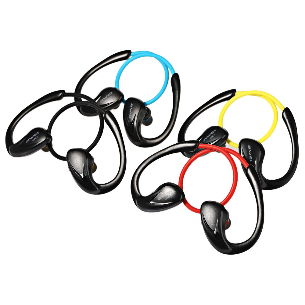 Awei A880BL yellow หูฟังบลูทูธ สำหรับออกกำลังกาย Super
