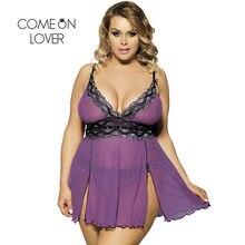 07117898ae6 Comeonlover Nuisette Femme Sexy Sleepwear Purple Plus Size Picardias  Lenceria Robe Sexy Erotique Sexy Babydoll Lingerie RI79991