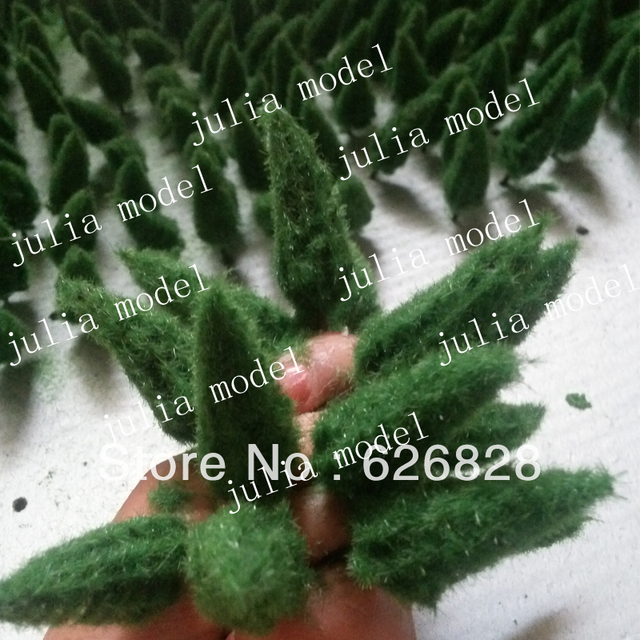 Model scale tree Construction sand table model Department green garden decoration materials 300pcs H:60mm