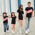 2017 summer family matching clothes mother daughter dresses mother father baby father and son outfits mommy and me clothes