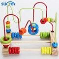Montessori De Madeira Bead Labirinto Brinquedo do miúdo Macio Clássico Conjunto com grânulos coloridos cedo brinquedo educacional de presente de alta qualidade