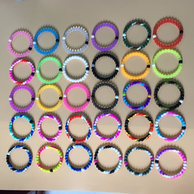 23 P Lokai Bracelet Colors Red Clear Blue Pink Camouflage Neon Wildlife Silicone